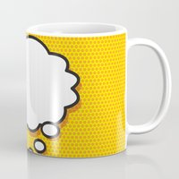 comic book Mugs featuring Comic Book THINK by The Image Zone
