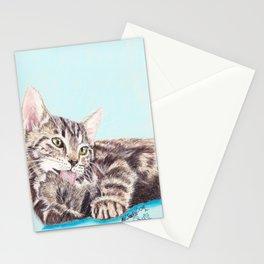 Original Pet Animals Artwork (non-profit) - Tabby Kitten Cat Pastel Stationery Cards