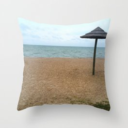 Somewhere on a Beach Throw Pillow