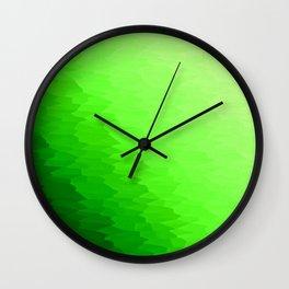 Green Texture Ombre Wall Clock