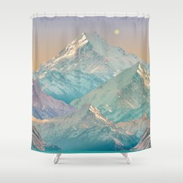 Pastel Landscape Shower Curtain