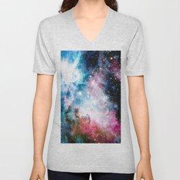 Carina Nebula : Colorful Galaxy Unisex V-Neck