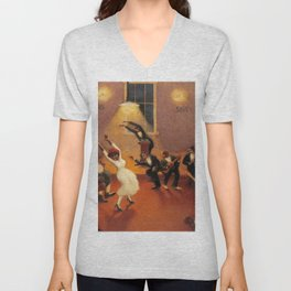 African-American Classical Masterpiece 'Tongues (Holy Rollers)' by Archibald Motley Unisex V-Neck