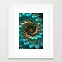 supreme Framed Art Prints featuring Aqua Supreme by Steve Purnell
