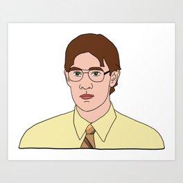Jim as Dwight Art Print
