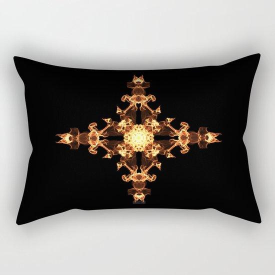 Fire Cross Rectangular Pillow