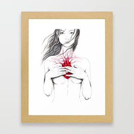 carry the cold heart home Framed Art Print