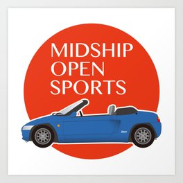 Midship Open Sports -Blue- Art Print