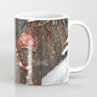sasquatch Mugs featuring Everyone Gets Cold by Terry Fan