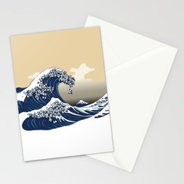 The Great Wave of Pandas Stationery Cards