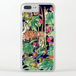Tropical Rainforest Animals Clear iPhone Case