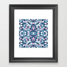 Abstract Collide Blue and Pink Framed Art Print