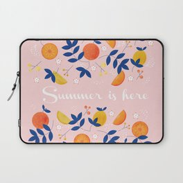Summer is here - fruit and typography Laptop Sleeve