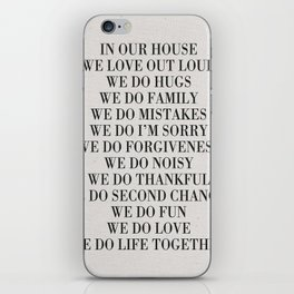 Family Rules iPhone Skin