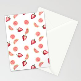Fruit Slices Pattern Stationery Cards