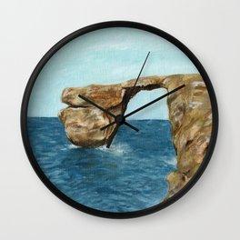 Finestra azzurra Malta Wall Clock