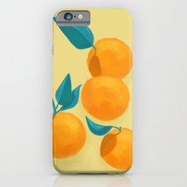 Oranges on yellow iPhone Case