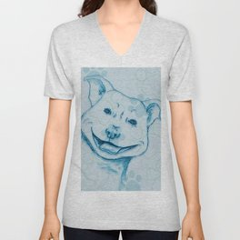 Happy PitBull Unisex V-Neck
