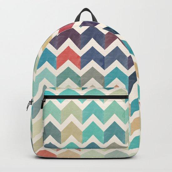 Watercolor Chevron Pattern Backpack
