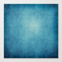 Blue Pattern Canvas Print
