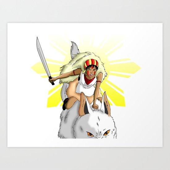 Andrea Bonifacio: San (Princess Mononoke) x Bonifacio x Gabriela Silang Art Print