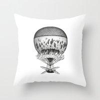 Jellyfish Joyride Throw Pillow