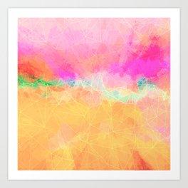 Modern Pastel Rainbow Cascade  Art Print