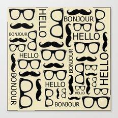 Hello, Bonjour Canvas Print