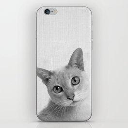 Cat Sad Face Portrait iPhone Skin