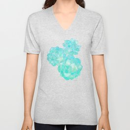 Rosette Succulents – Turquoise Palette Unisex V-Neck