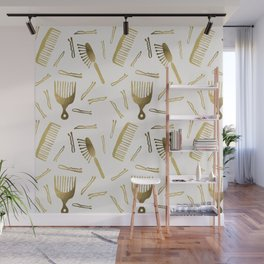 Good Hair Day – Gold Palette Wall Mural