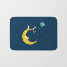 Man on the Moon Bath Mat