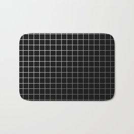 Metal Cage - Industrial, metallic grid pattern Bath Mat
