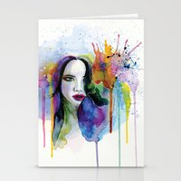 eternal sunshine Stationery Cards featuring Eternal sunshine by YOUMEECHO  ILLUSTRATION STUDIO