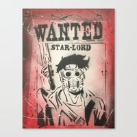 star lord Canvas Prints featuring Star Lord by PeonyPaints