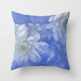 Uplift in Blue Throw Pillow
