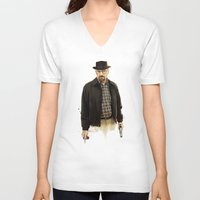heisenberg V-neck T-shirts featuring Heisenberg by keith p. rein