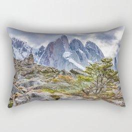 Snowy Mountains at Laguna Torre El Chalten Argentina Rectangular Pillow