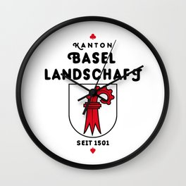 Canton of Basel-Landschaft Wall Clock