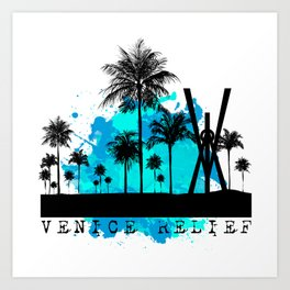Venice Green Art Print