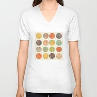 celestial V-neck T-shirts featuring CELESTIAL BODIES by Daisy Beatrice