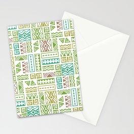 Polynesia Geometric Tapa Cloth - Earth Colors Stationery Cards