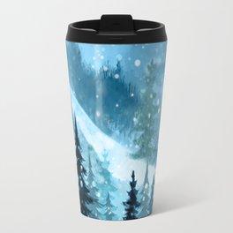 Winter Night Travel Mug