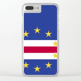 Cape Verde flag emblem Clear iPhone Case