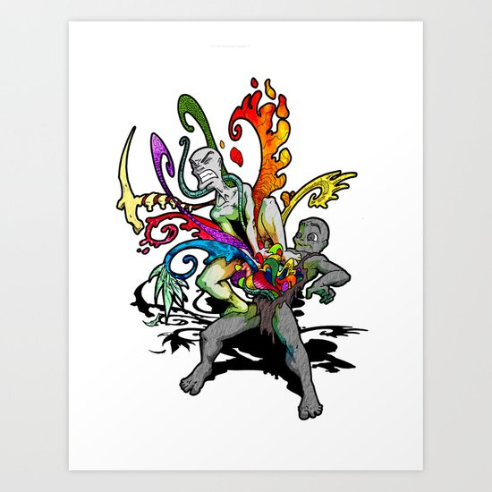 The Creativity Inside Art Print
