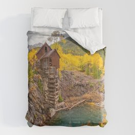 CRYSTAL MILL AUTUMN COLORADO LANDSCAPE PHOTOGRAPHY Comforters