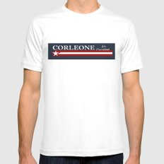 Corleone for President White SMALL Mens Fitted Tee