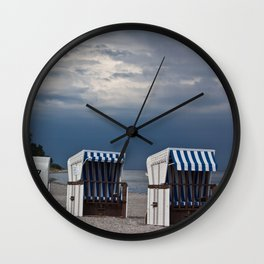 evening at the beach in boltenhagen Wall Clock