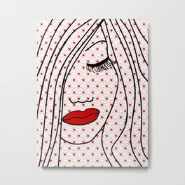 Portrait Of Love Metal Print
