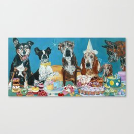 The Last Dessert Dog Portrait Canvas Print